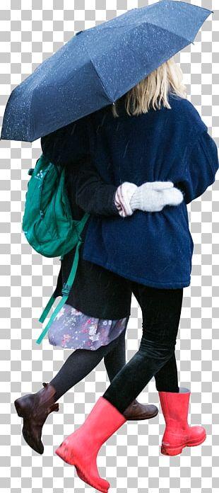 Walking Rain And Snow Mixed Winter Autumn PNG