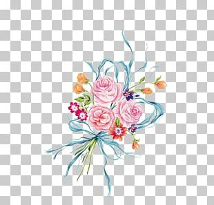 French Hydrangea Flower Red Pink Illustration PNG
