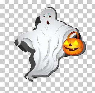 Halloween Ghost Pumpkin PNG