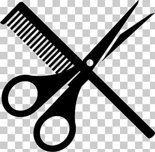 Comb Scissors Hairdresser Hair-cutting Shears PNG