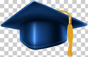 Square Academic Cap Graduation Ceremony Blue PNG