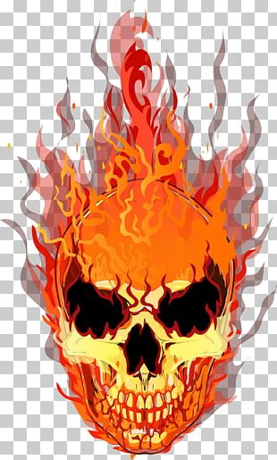 Skull T-shirt Fire Flame PNG