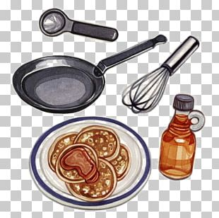Pancake Waffle Frying Pan Illustration PNG