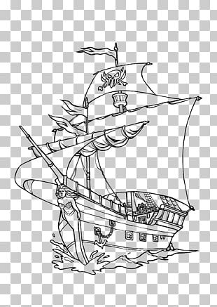 Piracy Ausmalbild Coloring Book Privateer Line Art PNG