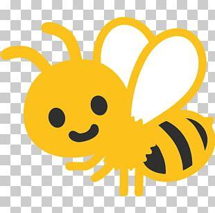 Honey Bee Emoji Android GitHub PNG