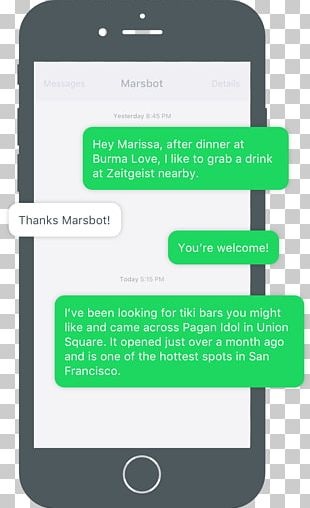 Foursquare Text Messaging Chatbot Mobile Phones SMS PNG