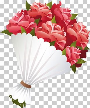 Flower Bouquet Cut Flowers Rose PNG