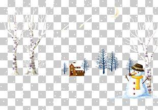 Winter Snowman Illustration PNG