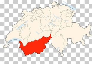 Canton Of Valais France Map PNG