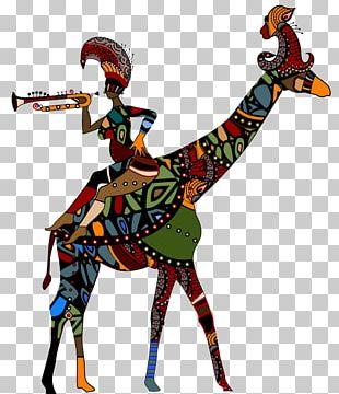 Giraffe Cartoon Dance Illustration PNG