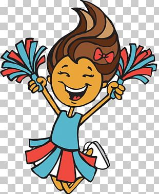 Cheerleader Cartoon Illustration PNG