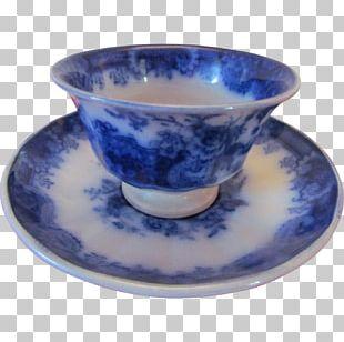 Saucer Blue And White Pottery Ceramic Cobalt Blue PNG