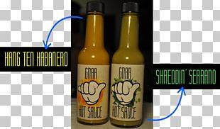 Serrano Pepper Beer Bottle Hot Sauce Habanero PNG