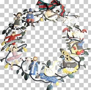 Folk Art Painting Wreath Christmas Day PNG