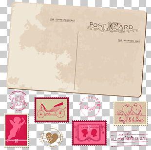 Wedding Invitation Postcard Postage Stamp Greeting Card PNG