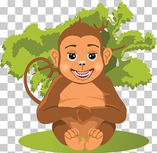 Cartoon Baby Jungle Animals PNG