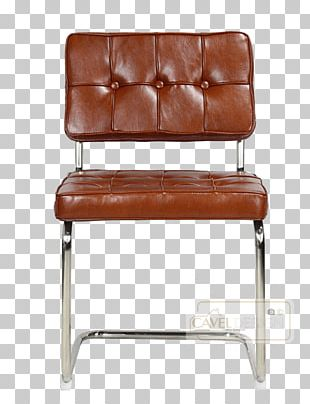 Eames Lounge Chair Barcelona Chair Bauhaus Cognac PNG
