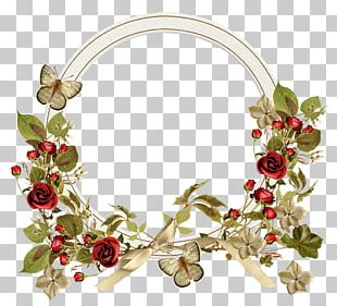 Wreath Garden Roses Scrapbooking Floral Design Flower PNG
