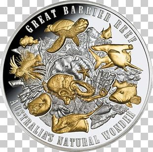 Great Barrier Reef Niue Coin Coral Reef Silver PNG