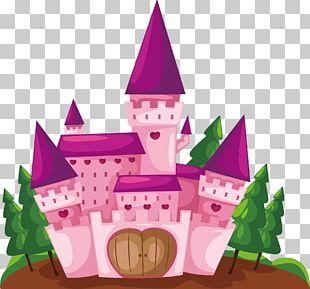 Cartoon Castle Illustration PNG