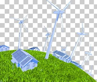 Wind Power Wind Turbine Solar Power Electric Generator PNG