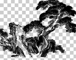 Ink Wash Painting Chinese Painting Tree PNG