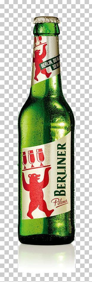 Lager Berliner Pilsner Beer Bottle PNG