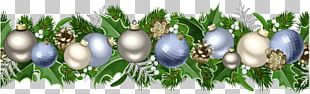 Christmas Ornament Garland PNG