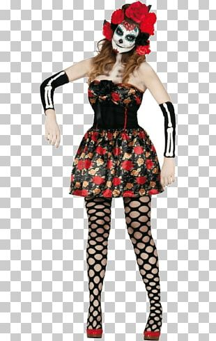 La Calavera Catrina Disguise Halloween Day Of The Dead PNG