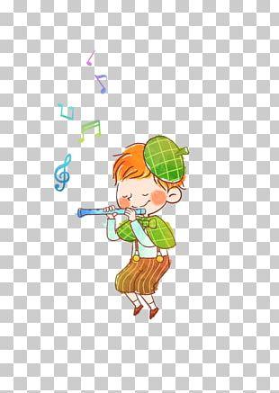 The Fifer Cartoon Flute Illustration PNG