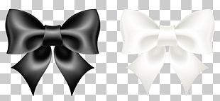 Black And White Bow Tie PNG