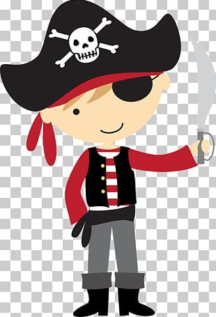 Children's Party Birthday Piracy Banner PNG
