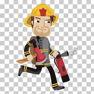 Firefighter Animation Drawing Cartoon PNG