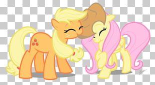 Kitten Pony Applejack Fluttershy PNG