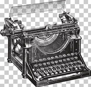 Typewriter Vintage Clothing Drawing PNG