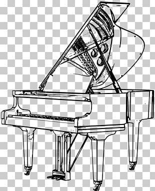 Grand Piano Drawing Musical Instruments PNG