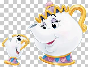 Mrs. Potts Beast Belle Minnie Mouse Character PNG