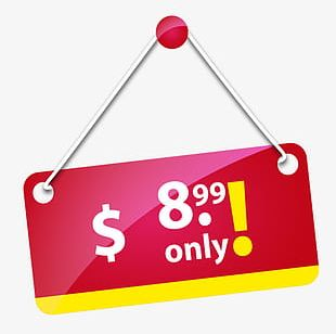 Red Price Tag PNG