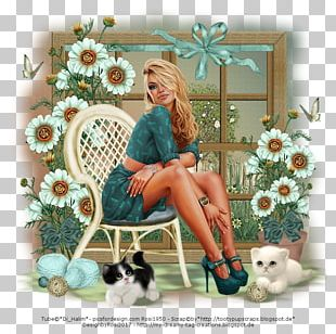 Floral Design Window Teal PNG