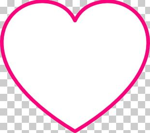 Line Point Pink M Heart PNG