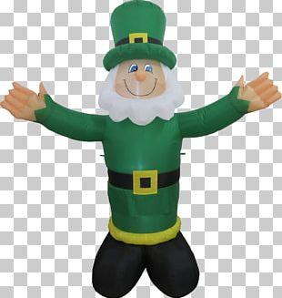 Leprechaun Saint Patrick's Day Inflatable Clover Shamrock PNG