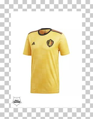 2018 World Cup Belgium National Football Team T-shirt Jersey Adidas PNG