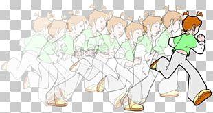 Running Cartoon Sport Illustration PNG