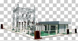 Electrical Substation Electricity Surge Arrester Electric Power Distribution Transformer PNG