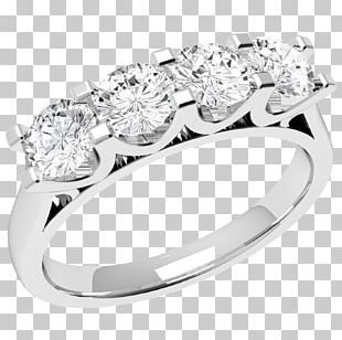 Eternity Ring Wedding Ring Diamond Silver PNG