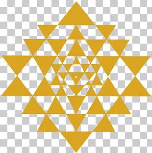 Sri Yantra Chakra Sacred Geometry Mandala PNG