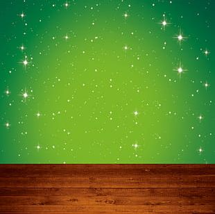 Green Star Background Material PNG