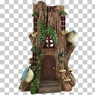 House Fairy Garden Window Solar Power PNG
