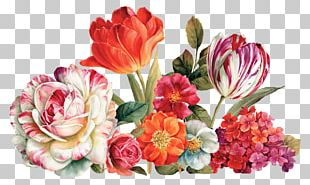 Flower Bouquet Floral Design Painting Decoupage PNG