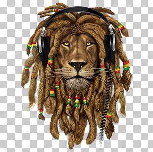 Lion T-shirt Zion Dreadlocks Rastafari PNG